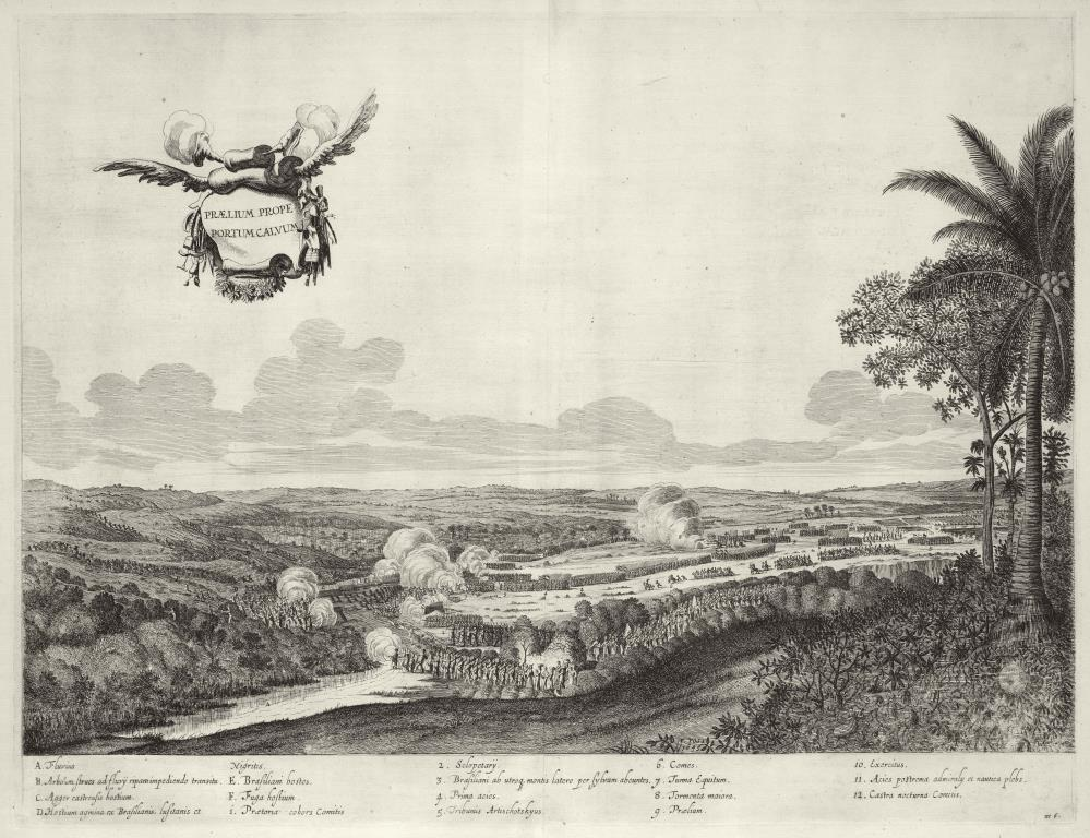 View of the battle for Porto Calvo in 1636