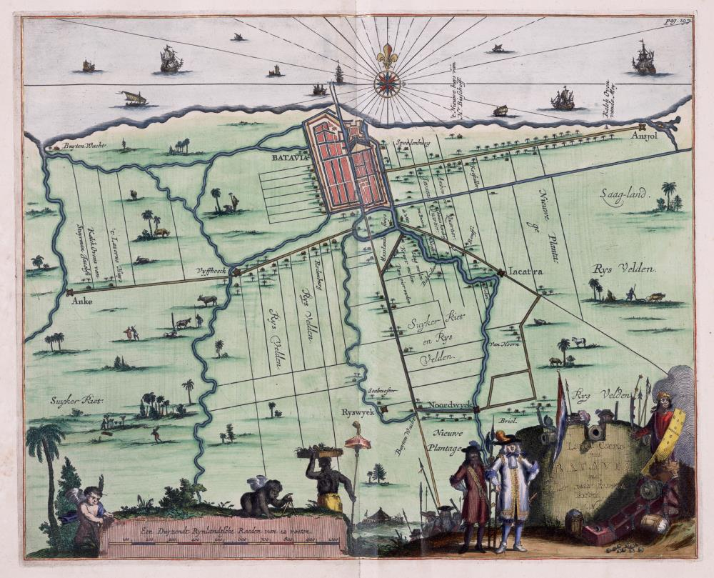 Map of Batavia and environs