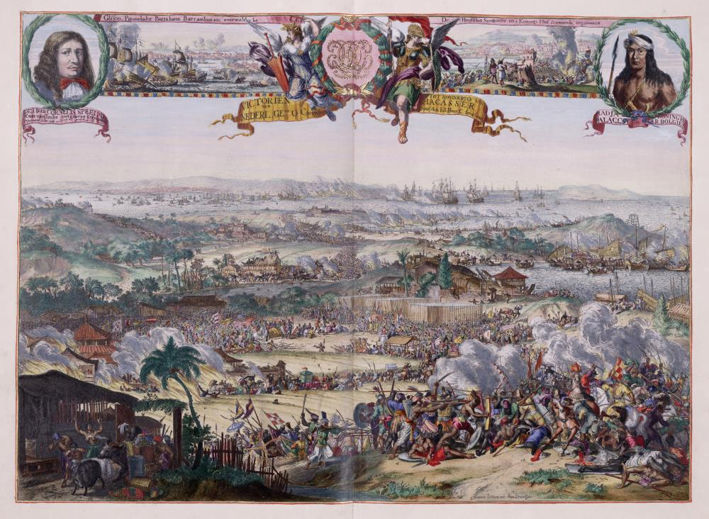 The conquest of Macassar by Speelman from 1666 to 1669