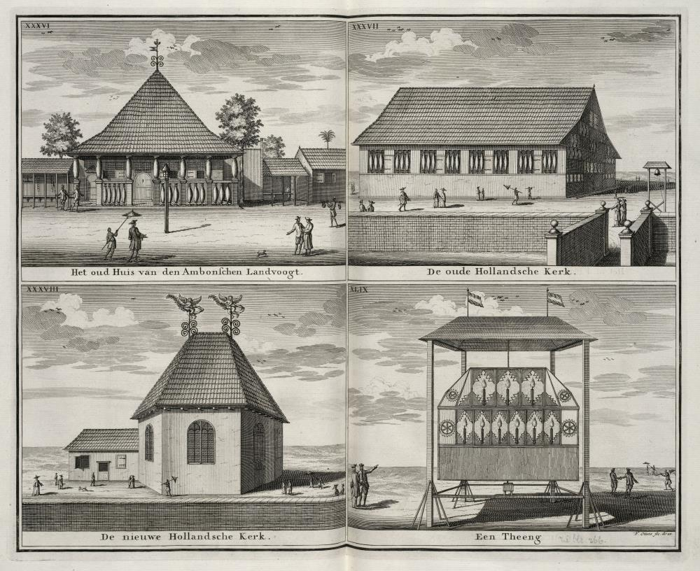 Four views of buildings in Ambon City