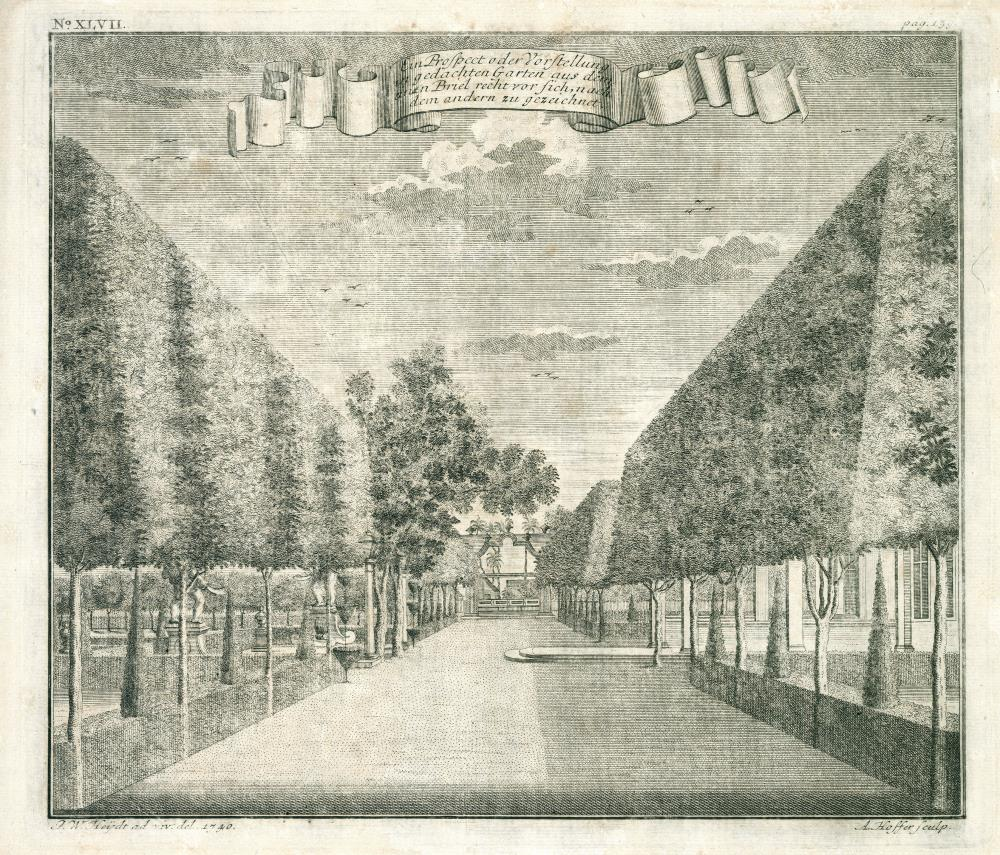 View of the gardens of Governor General Valckenier at Ansjol
