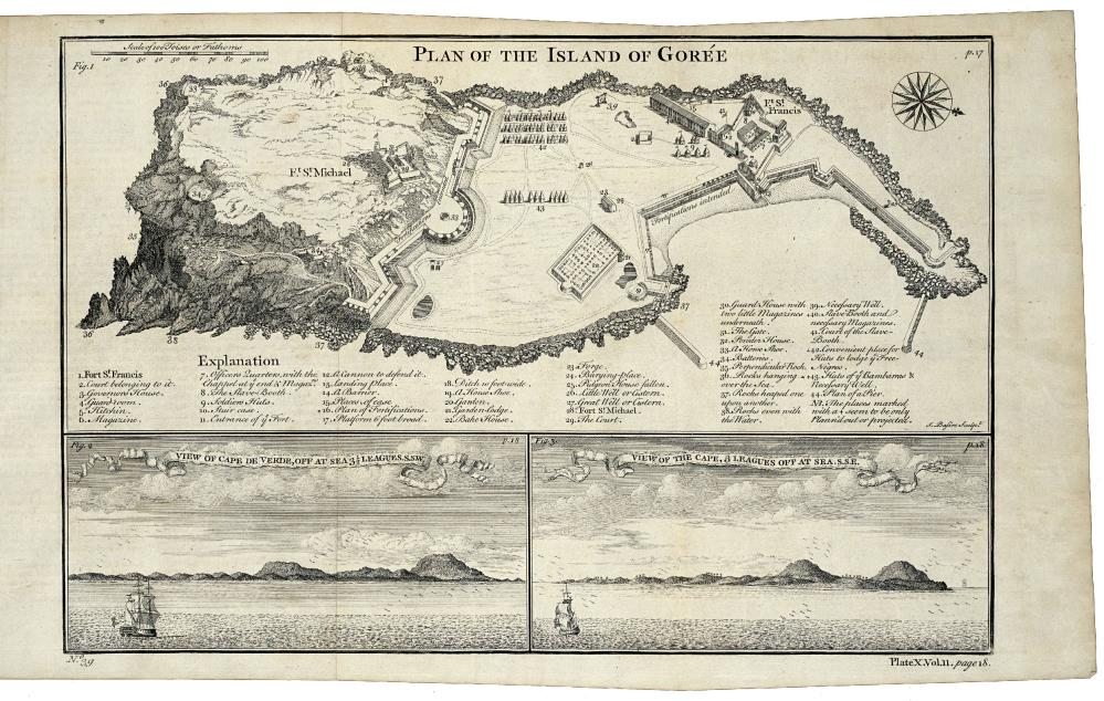 Map of the island of Goeree and two views of Cape Verde