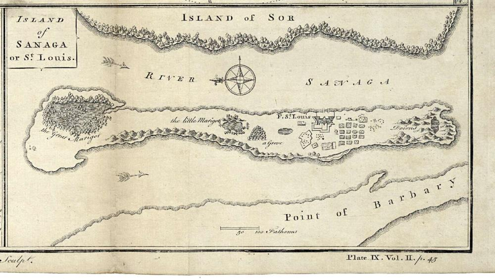 Map of the island of Sanaga or St. Louis