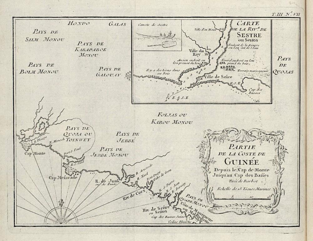 Map of part of the West African coast, from Cape Mount to the Sestre River