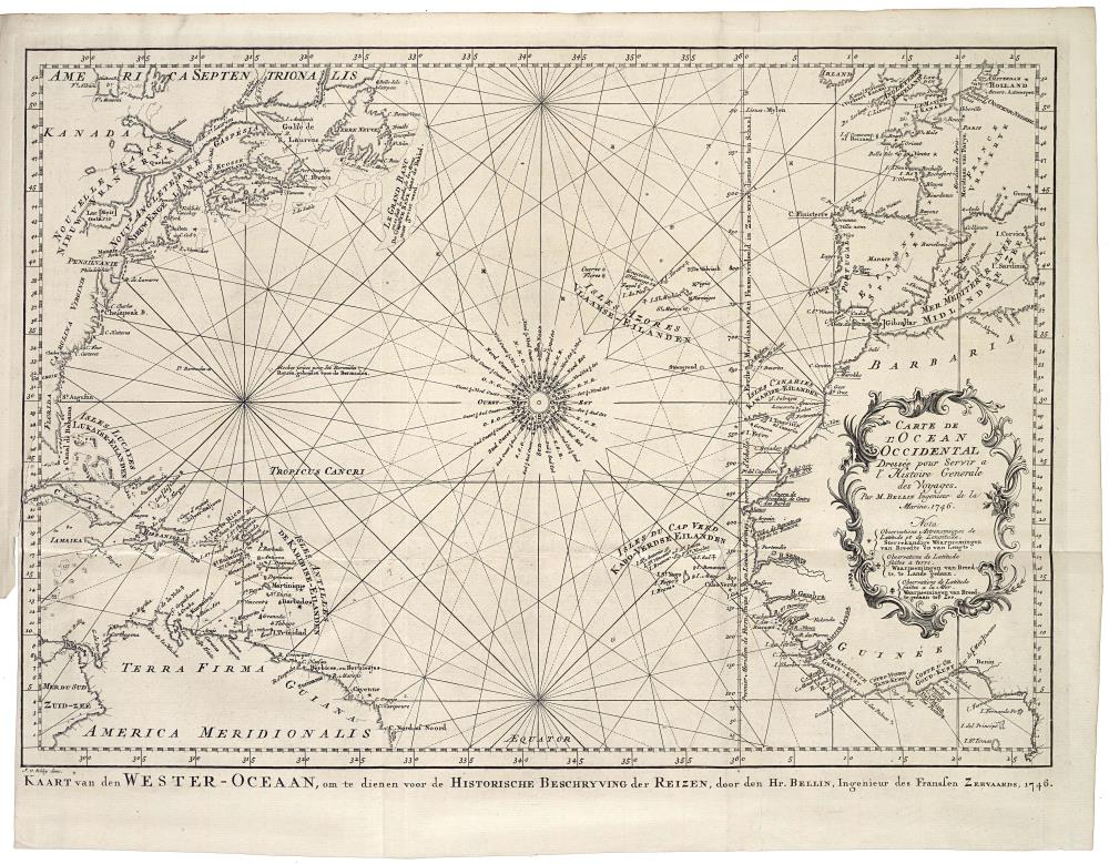 Map of the Atlantic Ocean