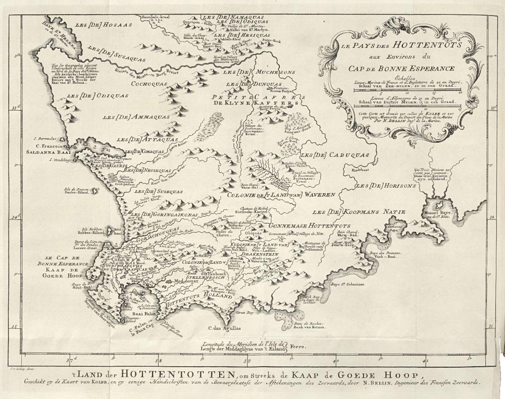 Map of the Cape of Good Hope