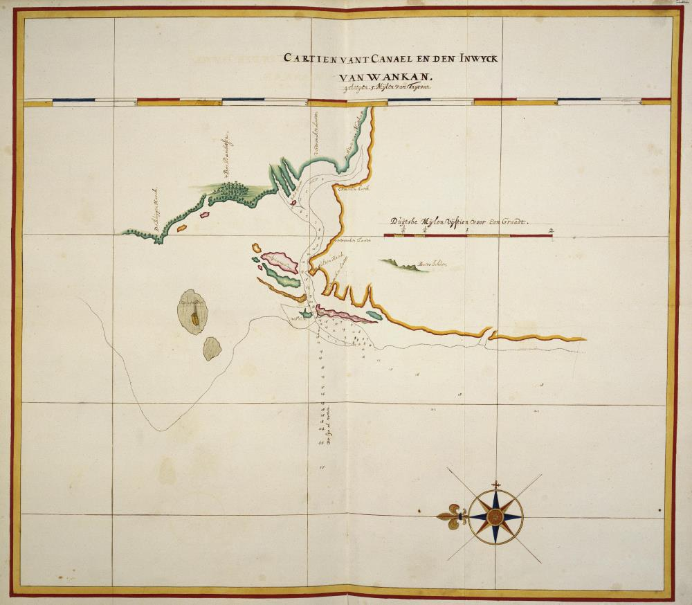 Map of the mouth of the Pachan River
