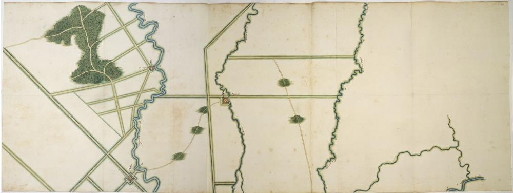 Map of Batavia and environs, southern leaf