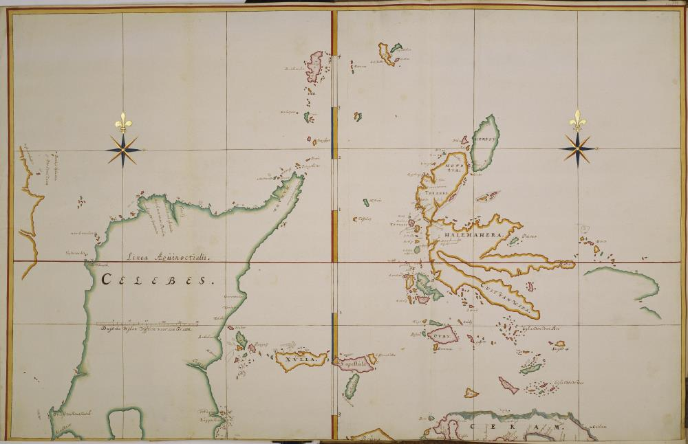 Map of the northern Moluccas and Celebes