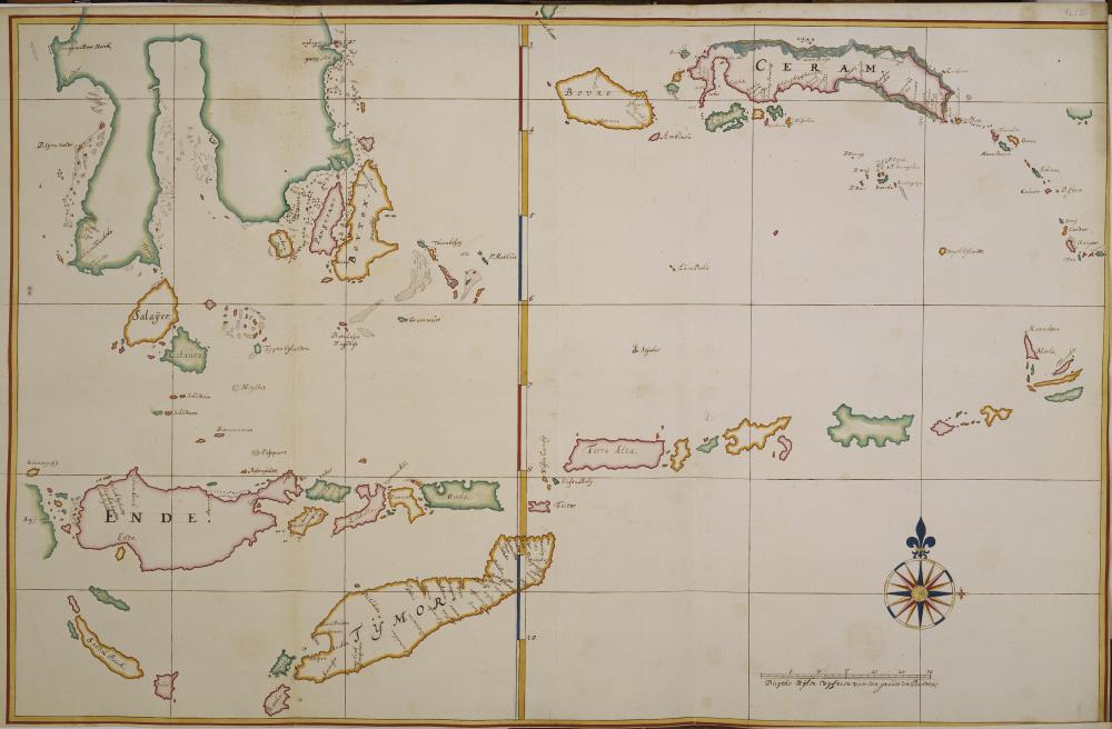 Map of the southern part of Celebes, Ceram and Timor
