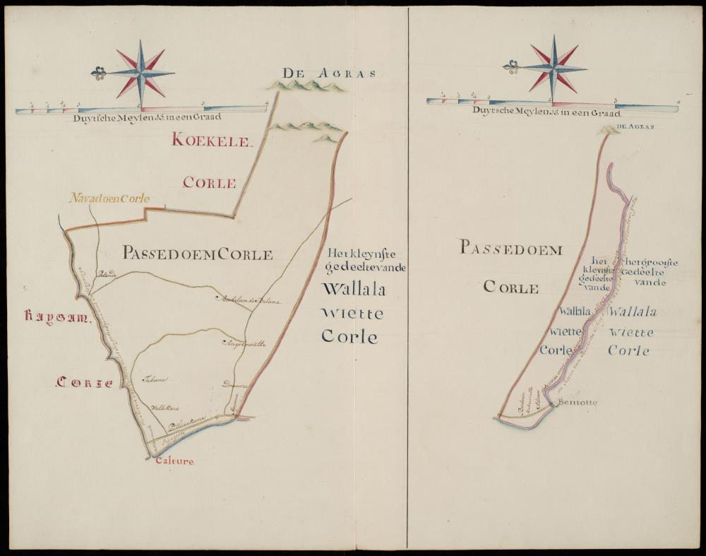 Map of Passedoem Corle and Wallalawiette Corle