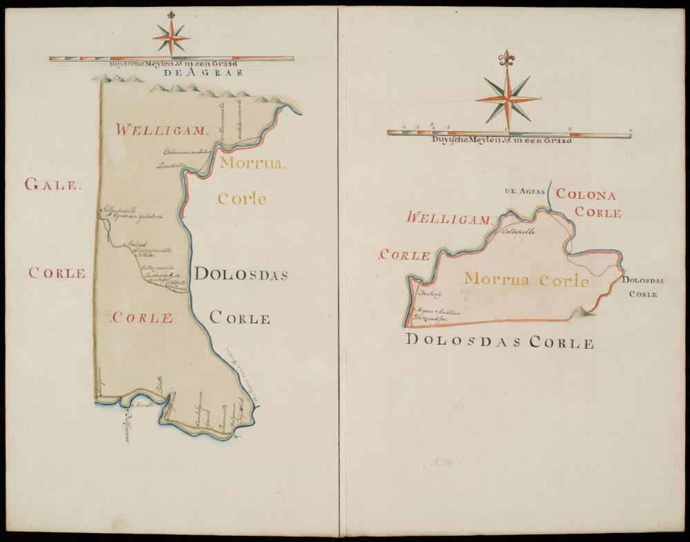 Maps of Welligam Corle and Morrua Corle