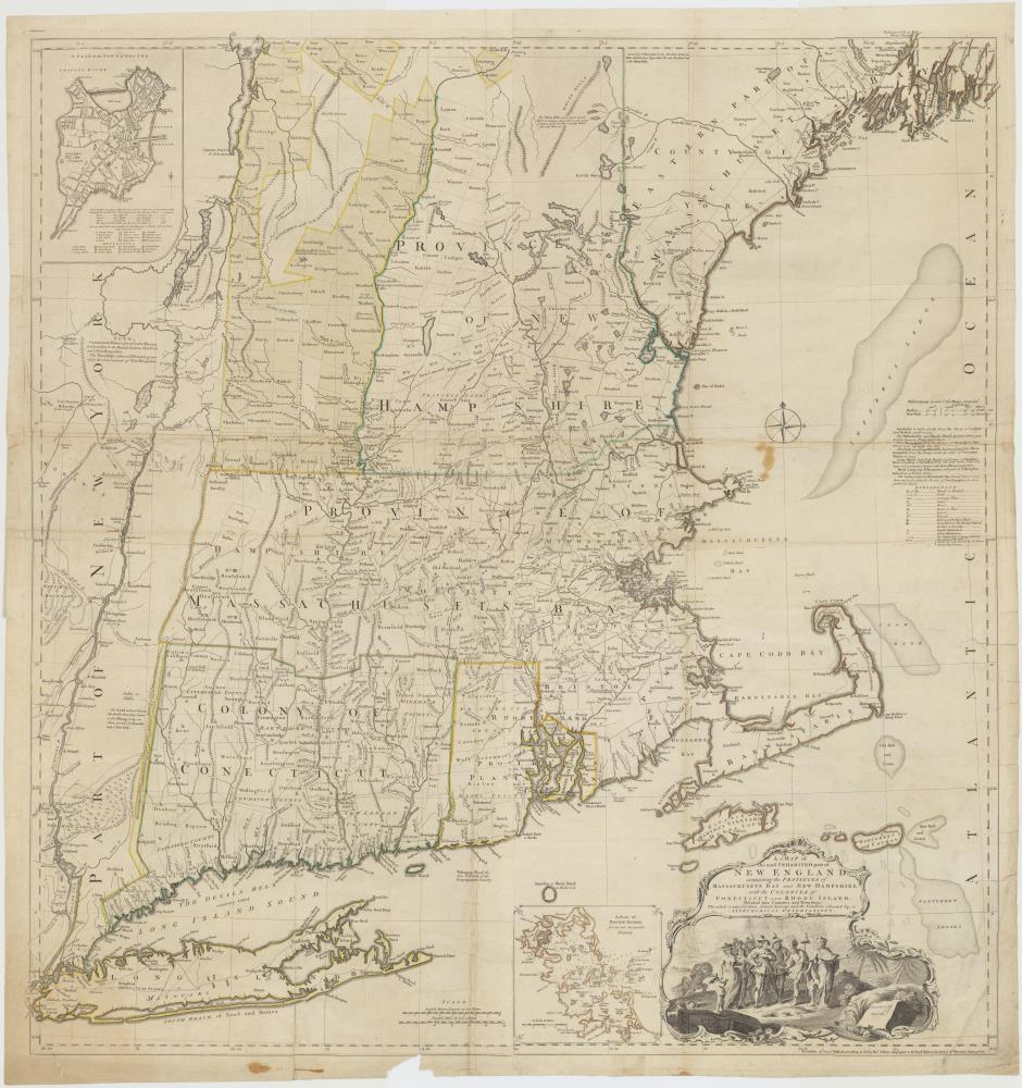 Map of New-England north of New York