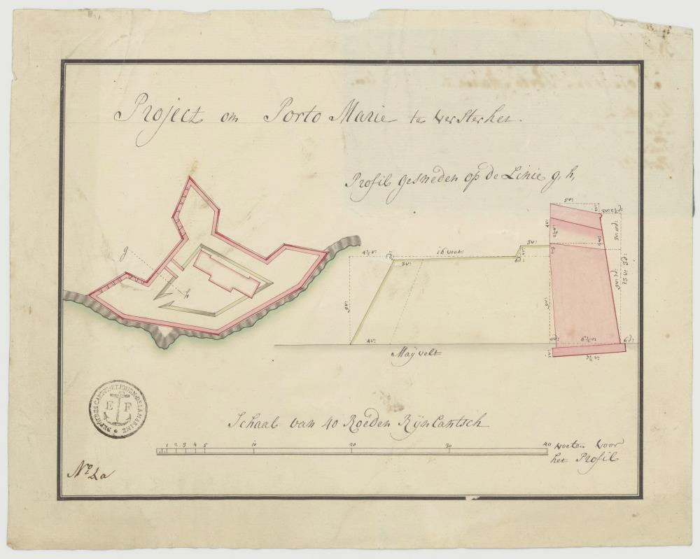 Plan for a redoubt at Porto Marie