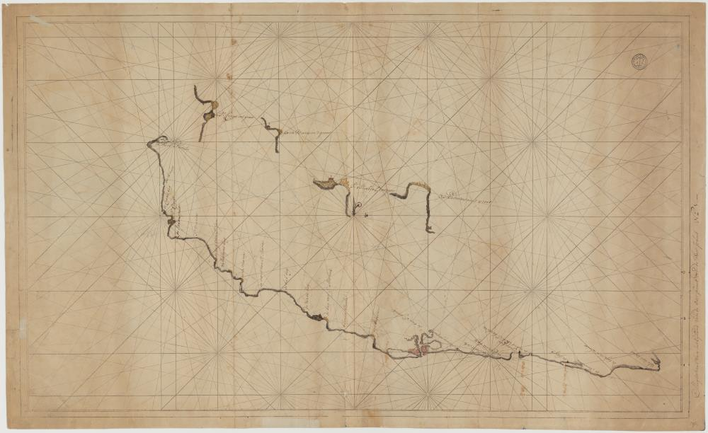 Chart of the south coast of Curaçao