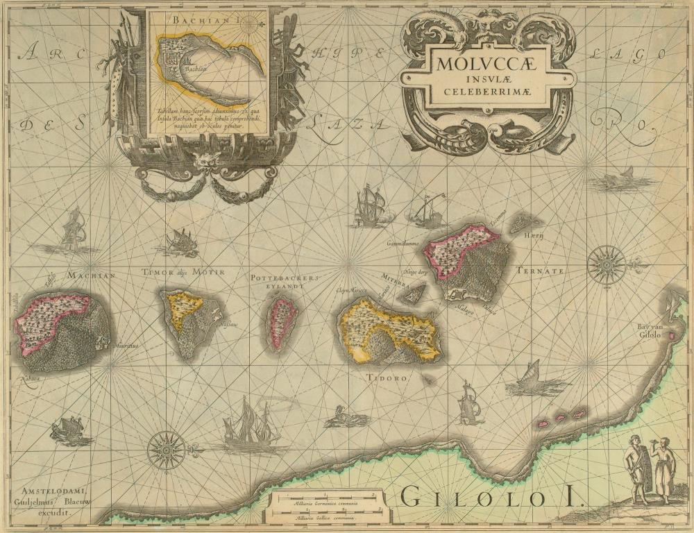 Chart of the northern Moluccas and a map of Bachian