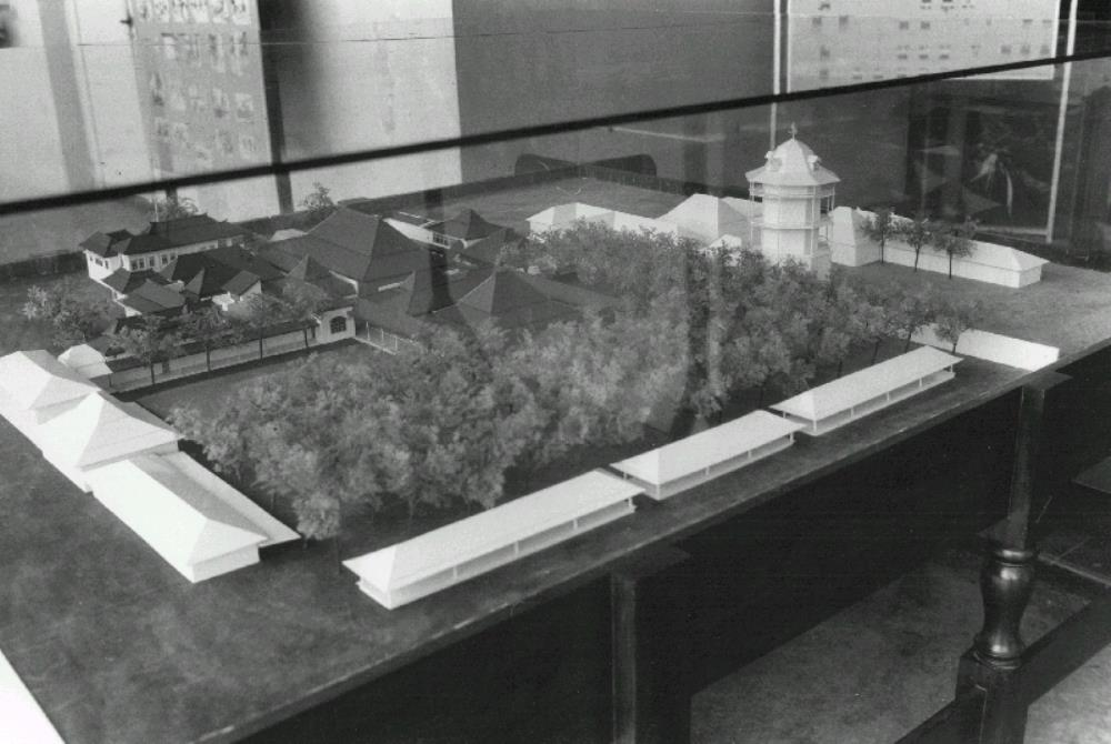 Scale model of the 'kraton' at Surakarta