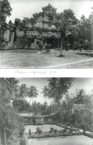 Two views of the water palace at the 'kraton' in Yogyakarta
