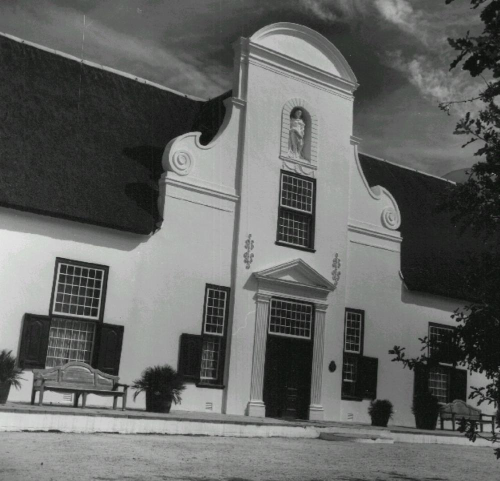 Frontage of Groot Constantia, the governor's country estate