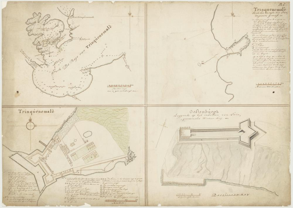 Maps of Trinquenemale and Oostenburgh