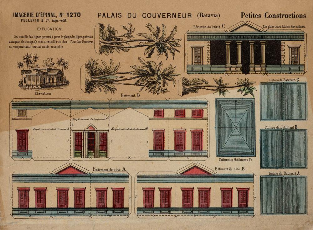 Architectural design for the governor's palace on Batavia