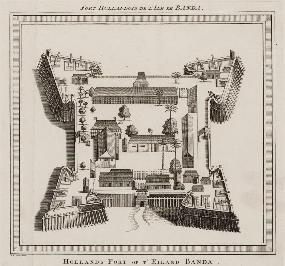 Map of the Nassau fort at Banda