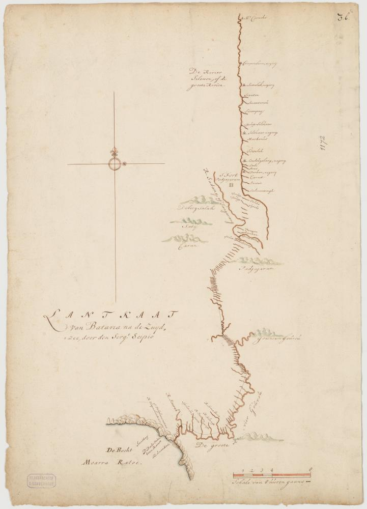 Map of Batavia to South Java